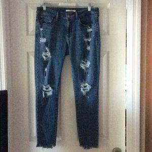 Women's Levi's 711 Distressed Skinny Jeans Size 10